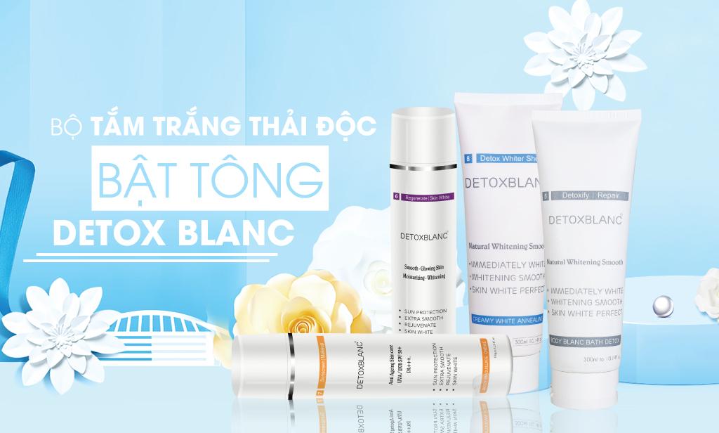 Kết quả hình ảnh cho bộ chăm soc da mặt detox blanc